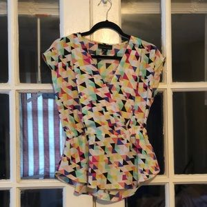 Colorful Geometric Blouse